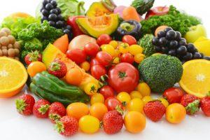 朝の野菜と果物